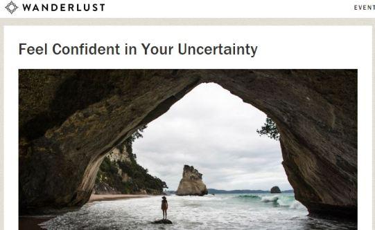 Wanderlust-ConfidenceinUncertainty